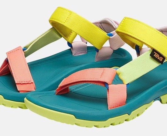 Colourful hiking sandal
