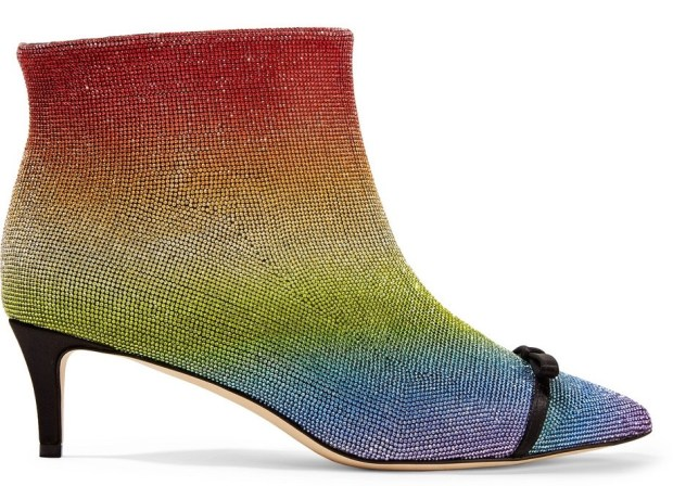 Rainbow Swarovski boots