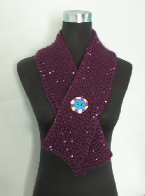 neckwarmer purple