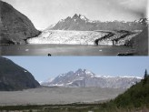 Carroll Glacier, Alaska. August 1906 and June 21, 2004