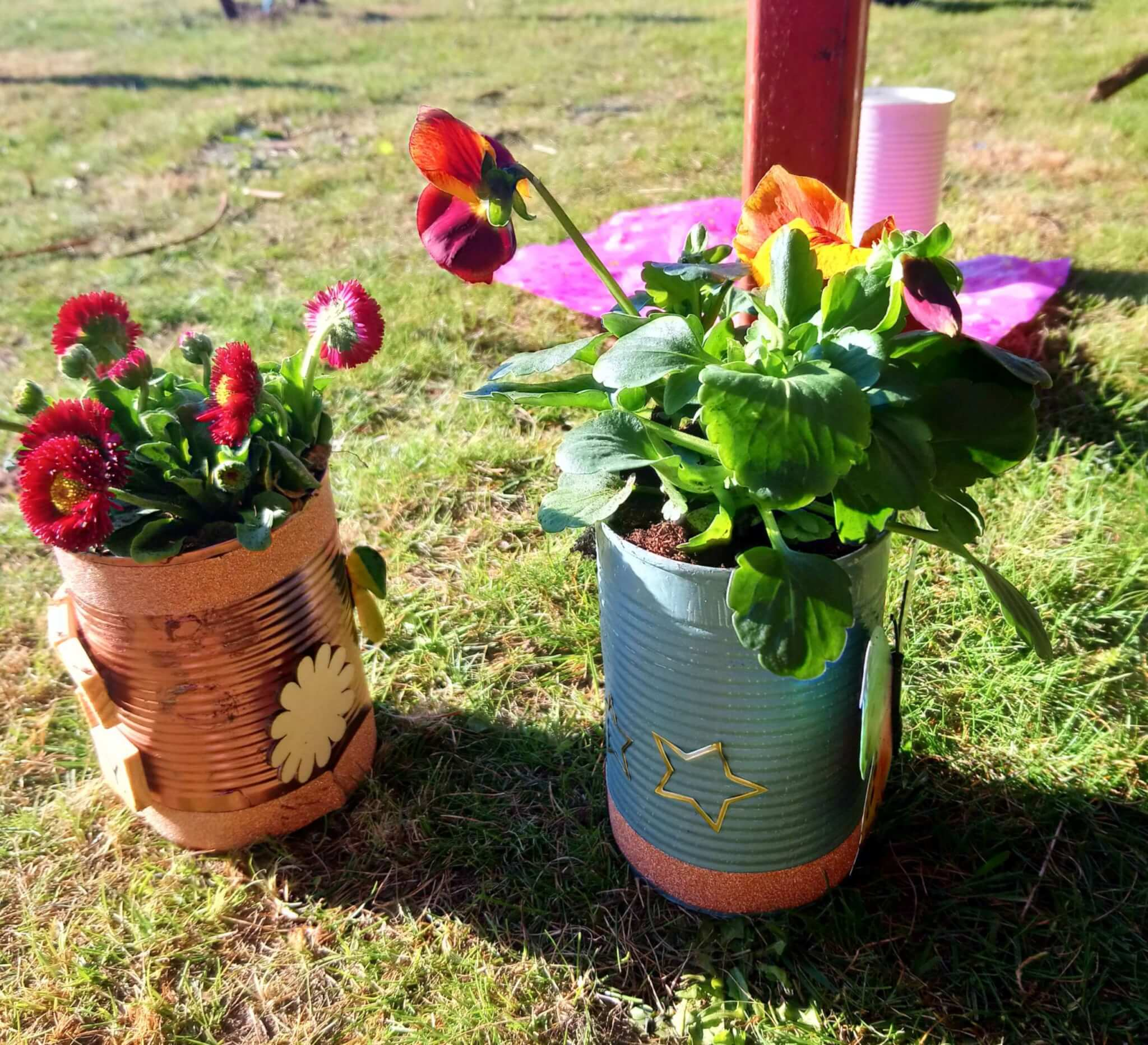 plant pots from workshop