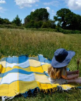 Blue-Yellow-blanket-with-Child