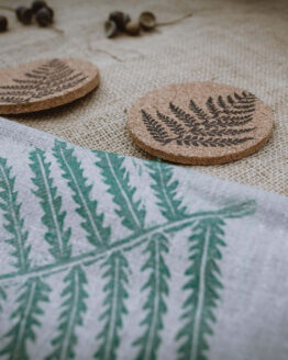 fern cork coasters alternative
