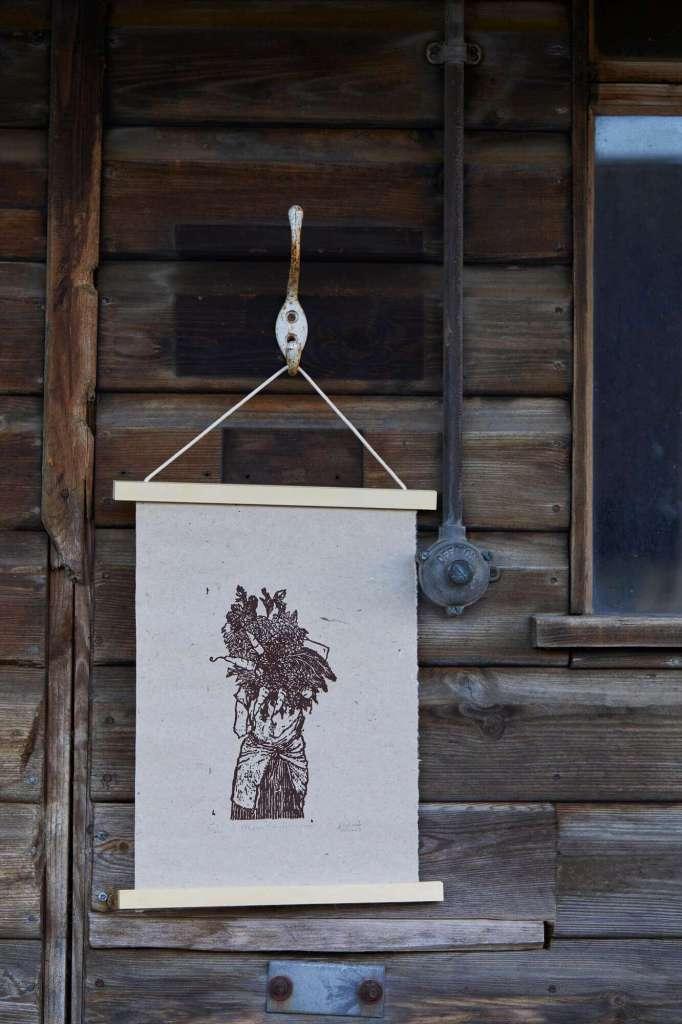 flower harvest print