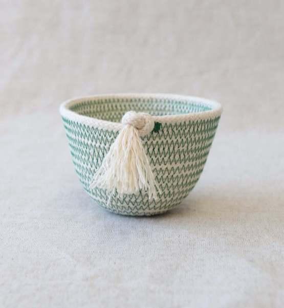 moss green rope petit pot