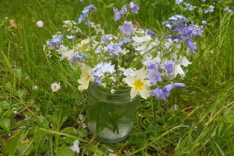 jar of wildflowers