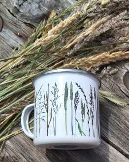 meadow grass mug detail 1