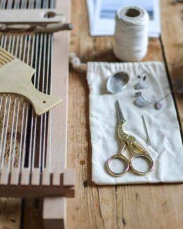 nature inspired frame loom weaving workshop