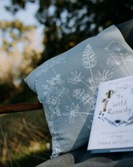 new garden print cushion shot