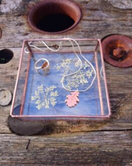 paly glass jewellery tray