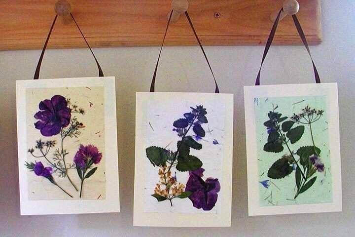 pressed flower hanging cards