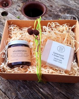 wilderness candle and soap gift set