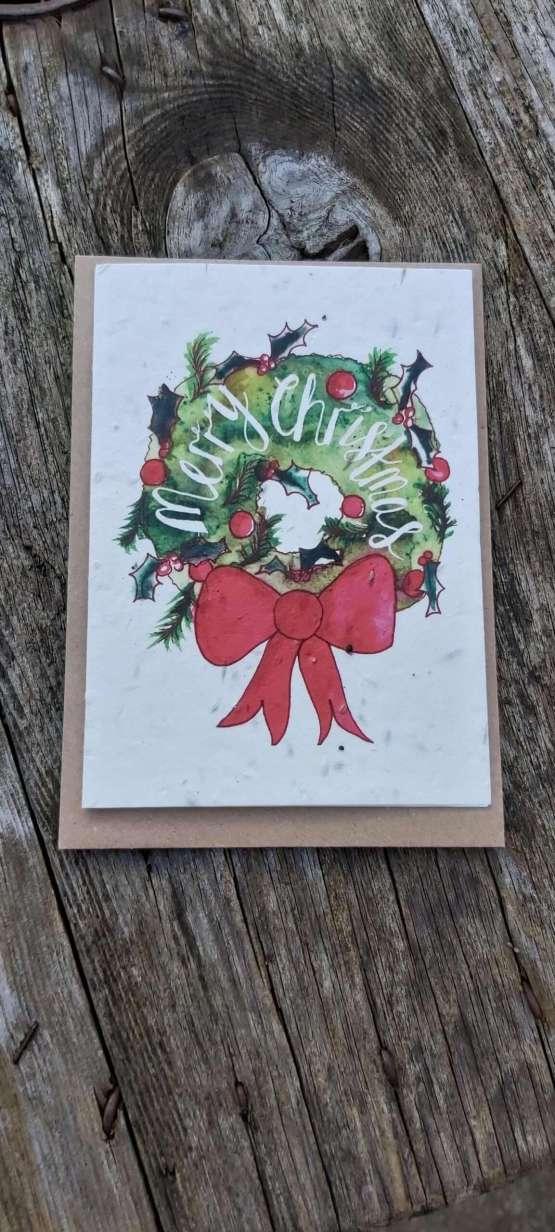 wreath seed card