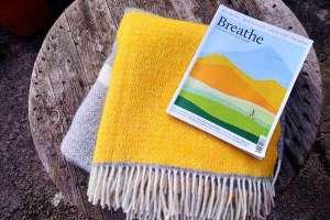 yellow grey windmill stripe blanket low res