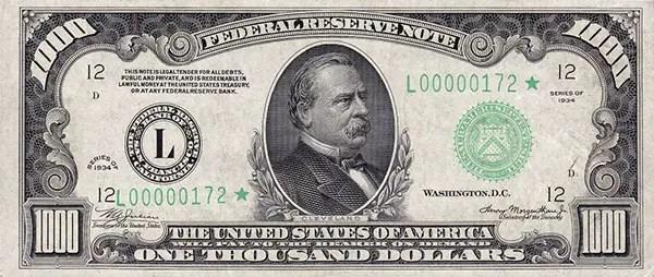 Grover Cleveland $1,000 bill