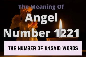 angel number 1221