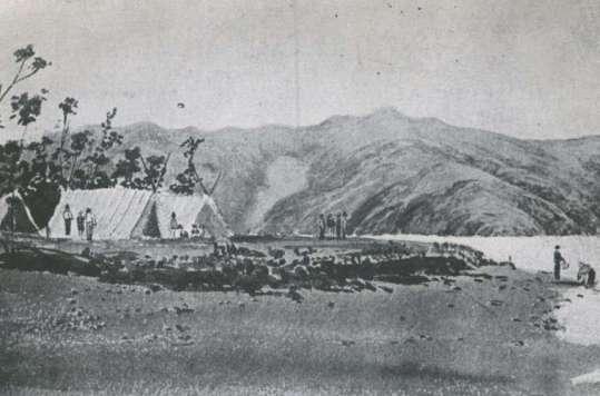 tents of French settlement Akaroa