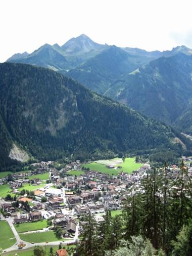 Mayrhofren seen from the Gasthaus Zimmereben.