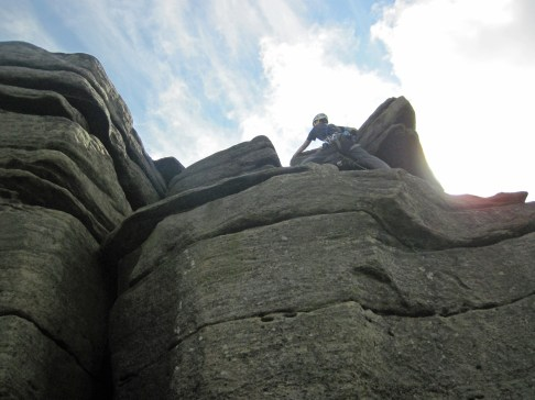 Leading Wall Corner (HVD, 4a) at Burbage.