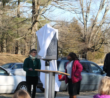 The marker being revealed