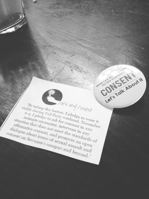 Photo of the button and pledge