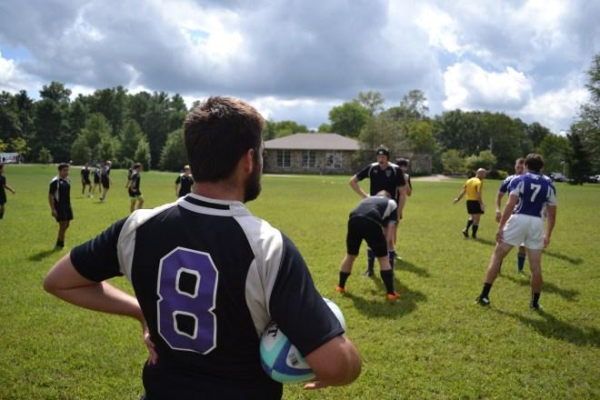 Sewanee men play rugby