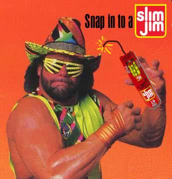 "An old ""Snap into a Slim Jim"" advertisement"