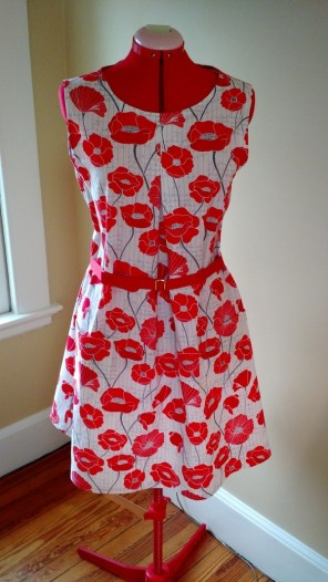 Dress with Front Tuck