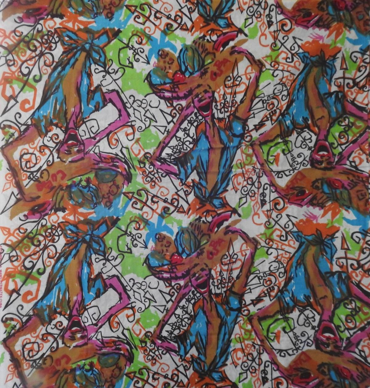 linen fabric bought in Cuba by Jeltje