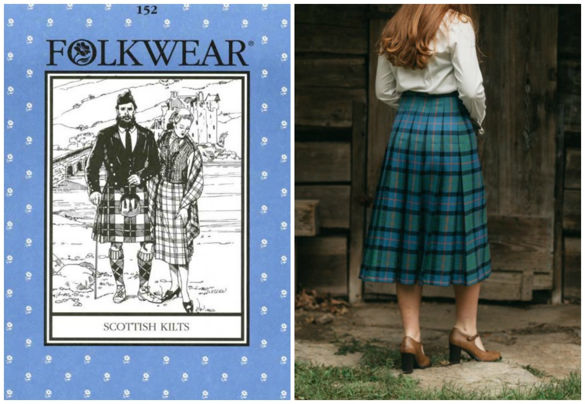 Picture of a Scottish kilt pattern and sample