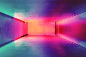 bright colorful hallway