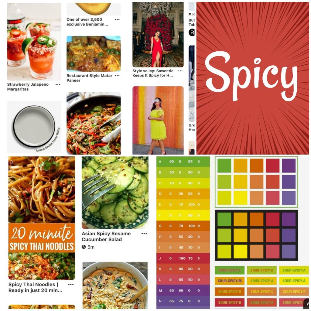 spicy image mood board