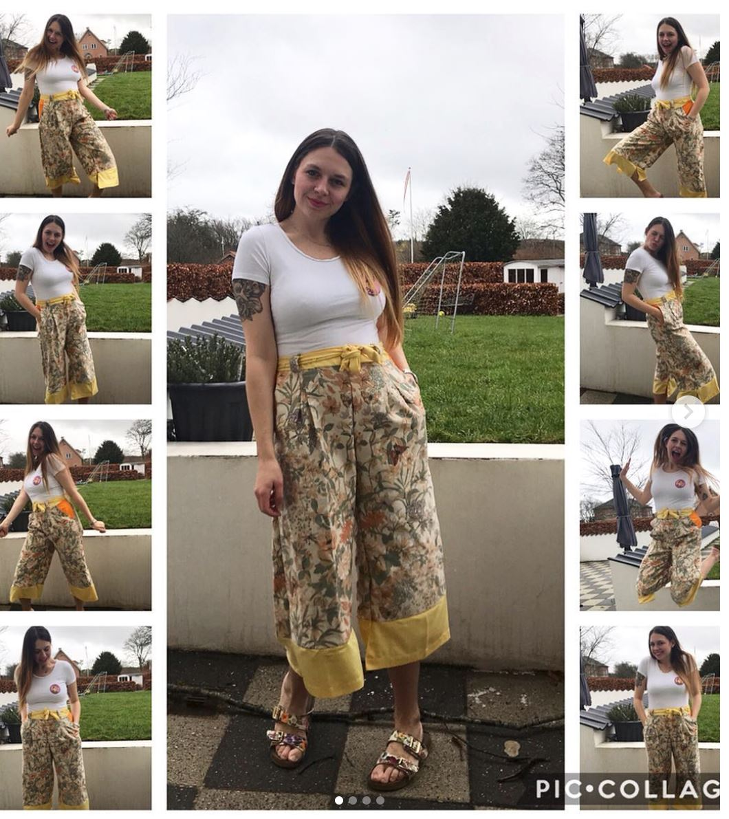 Yellow patterned trousers
