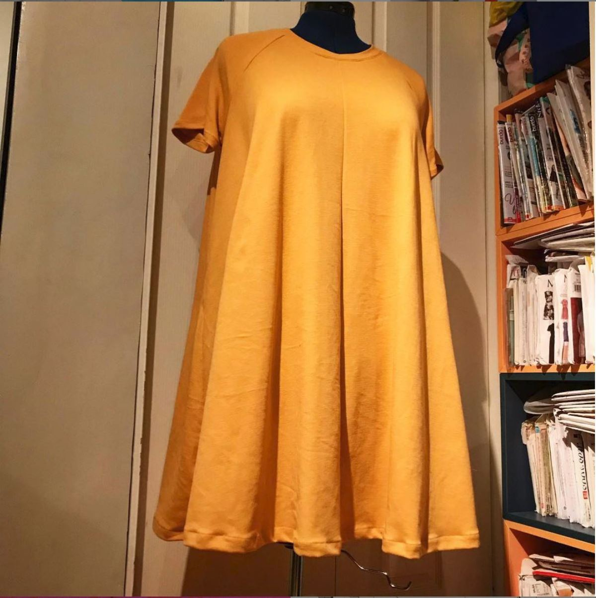 Vibrant yellow dress