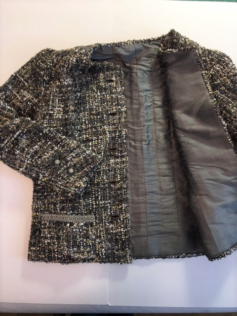 complete jacket with lining in a flatly