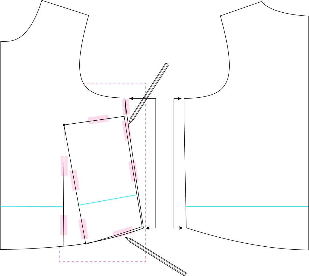 graphic showing side seam truing