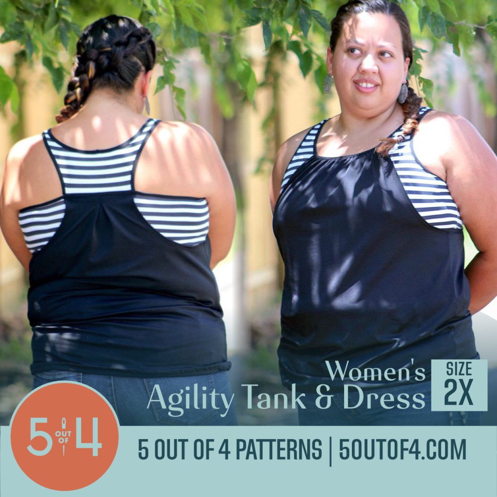 Pattern cover image of a person modeling a black and white tank top