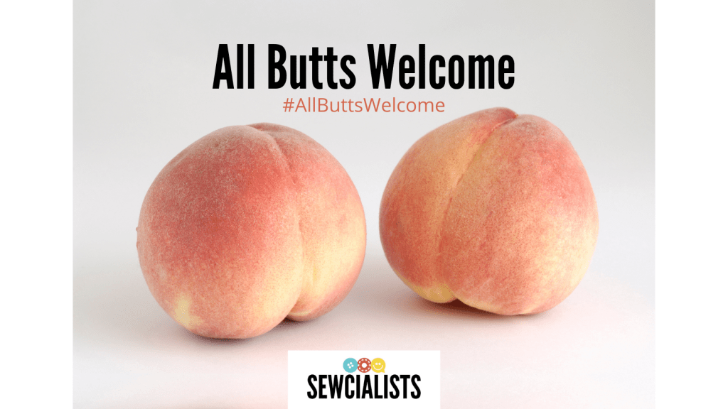 All Butts Welcome logo, featuring two peaches.