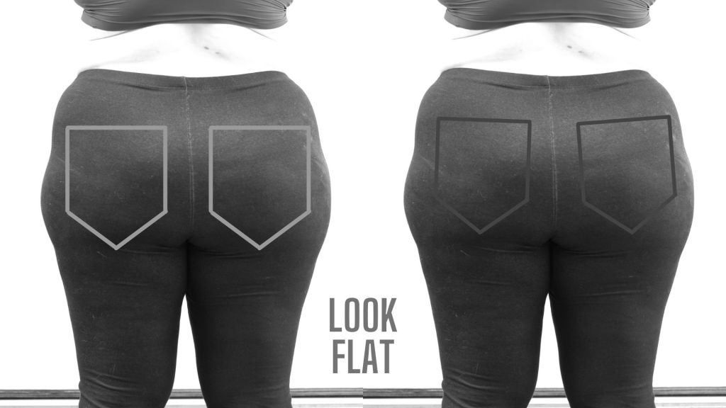 Two bottoms with plain pockets drawn on.