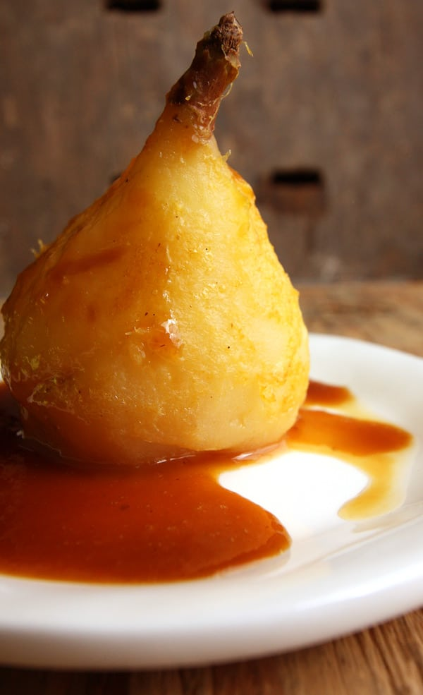 Poached Pears with Spiced Orange Glaze in the Instant Pot
