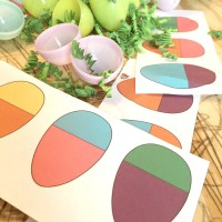 Matching Egg Pattern for Toddlers - Free Printable