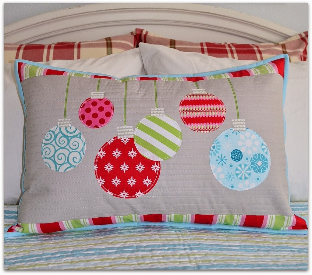 The Sewing Chick Christmas Ornament Pillow Tutorial