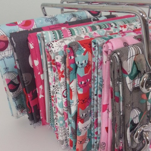 bundle of Curious Cats fabric from the Henley Studio