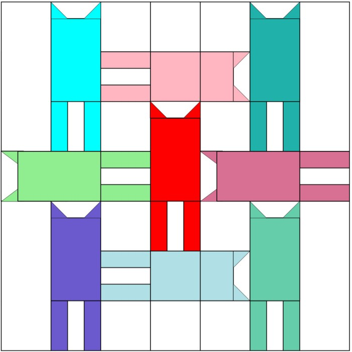 cat weave mini quilt diagram 1