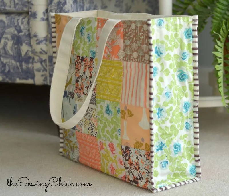 tote bag featuring cultivate fabric from art gallery