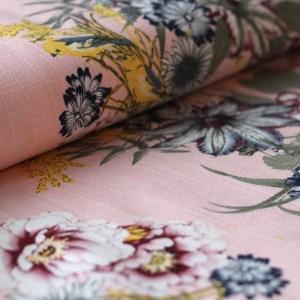 Flow linnen roze