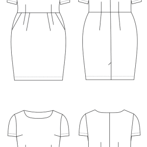 + size: Rivermont jurk en top patroon