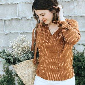 Seoul blosssom blouse- sew to grow