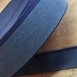 Elastiek jeans melange met rand 40 mm