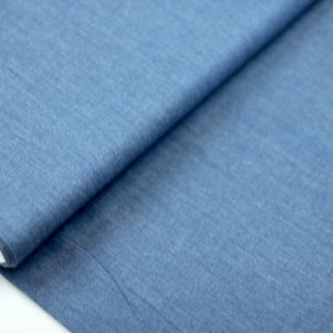 Medium dark blue- chambray katoen